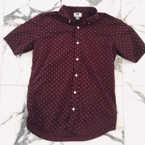 Boy's Old Navy Woven Button Up Lg